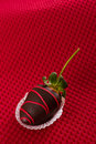 Chocolate covered strawberry Royalty Free Stock Photo