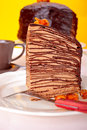 Chocolate Crepes Cake Royalty Free Stock Photo