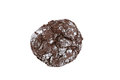 Chocolate crinkle cookie isolated on white background Royalty Free Stock Photo