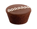 Chocolate cupcake isolated on a white background Stock Photo