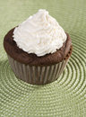Chocolate Cupcake with Vanilla Icing Royalty Free Stock Images