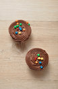 Chocolate Cupcakes with chocolate frosting Royalty Free Stock Photo