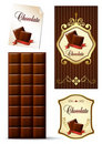 Chocolate design elements Stock Images