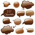 Chocolate dialog bubbles Royalty Free Stock Images
