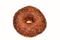 Chocolate donut with candy Royalty Free Stock Image