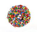 Chocolate Donut with Sprinkles Royalty Free Stock Photos