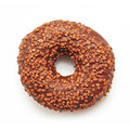 Chocolate doughnut on white background Stock Image