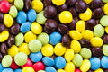 Chocolate dragees background of colorful of sweets jelly beans Royalty Free Stock Photography