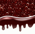 Chocolate Dripping, Wave from Liquid  Chocolate, area for text Royalty Free Stock Photo