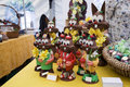 Chocolate Easter Bunnies On Di...