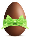 Chocolate Easter Egg With Ribb...