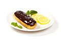 Chocolate eclairs delicious homemade with a ganache Royalty Free Stock Image