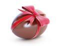 Chocolate egg with bow Stock Photography