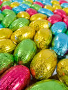 Chocolate eggs Royalty Free Stock Images