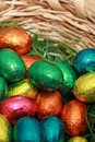 Chocolate Eggs A Traditional Easter Sweet. Stock Photos