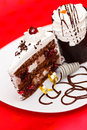 Chocolate fancy cake Royalty Free Stock Images