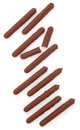 Chocolate Finger Biscuits Royalty Free Stock Photography