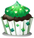 A chocolate flavored cupcake illustration of on white background Royalty Free Stock Images