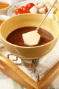 Chocolate fondue Stock Photos