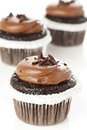 Chocolate Frosted Cupcake Stock Photography