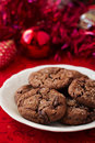 Chocolate ginger cookies Royalty Free Stock Image