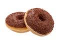 Chocolate glazed doughnut Stock Images