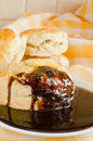 Chocolate gravy for biscuits Royalty Free Stock Image