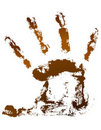 Chocolate handprint Stock Photography