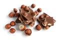 Chocolate with a hazelnut