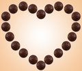 Chocolate heart Stock Photos
