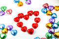 Chocolate heart candies Stock Photography