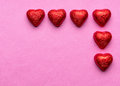 Chocolate hearts on valentine s day Royalty Free Stock Images
