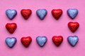 Chocolate hearts on valentine s day Royalty Free Stock Photography