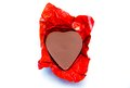 Chocolate hearts on the white background Royalty Free Stock Photos