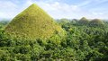 Chocolate hills philippines panorama bohol island Royalty Free Stock Photos