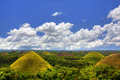 Chocolate hills view of the in bohol philippines Royalty Free Stock Photos