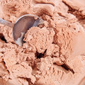 Chocolate ice cream scoop Royalty Free Stock Photography