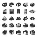 Chocolate icon set 4, vector eps10