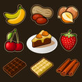 Chocolate icons set this is file of eps format Stock Images