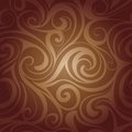 Chocolate liquid swirls vector abstract seamless pattern of Stock Images