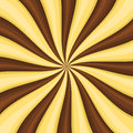 Chocolate Lollypop Candy Background with Swirling, Rotating, Twirling Stripes. Vector Royalty Free Stock Photo