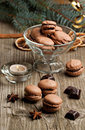 Chocolate macaroons Royalty Free Stock Image
