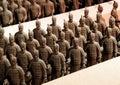 Chocolate-made terra-cotta warriors Royalty Free Stock Photo