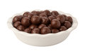 Chocolate Malt Balls isolated Royalty Free Stock Photos