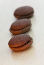 Chocolate marron cookies Royalty Free Stock Photography