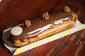 Chocolate and milk eclair Royalty Free Stock Photo