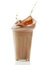 Chocolate milkshake Stock Images