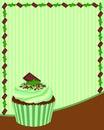 Chocolate Mint Cupcake Background
