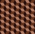 Chocolate mosaic seamless pattern abstract Stock Photo
