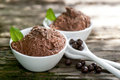 Chocolate mousse with pearls Royalty Free Stock Image